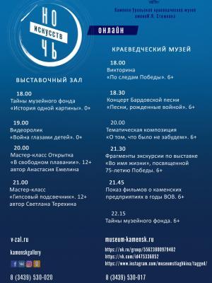 """Ежегодная всероссийская акция """"Ночь искусств"""" пройдет онлайн"""