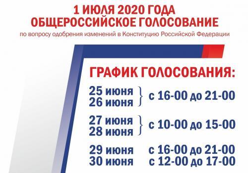 Появилось расписание для досрочного голосования по внесению поправок в Конституцию РФ